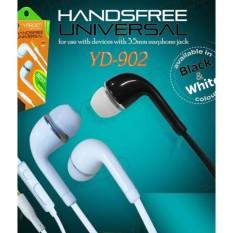 Yarden YD902 Universal Smart Handsfree Mega Bass - Support Android BB Nokia - Putih