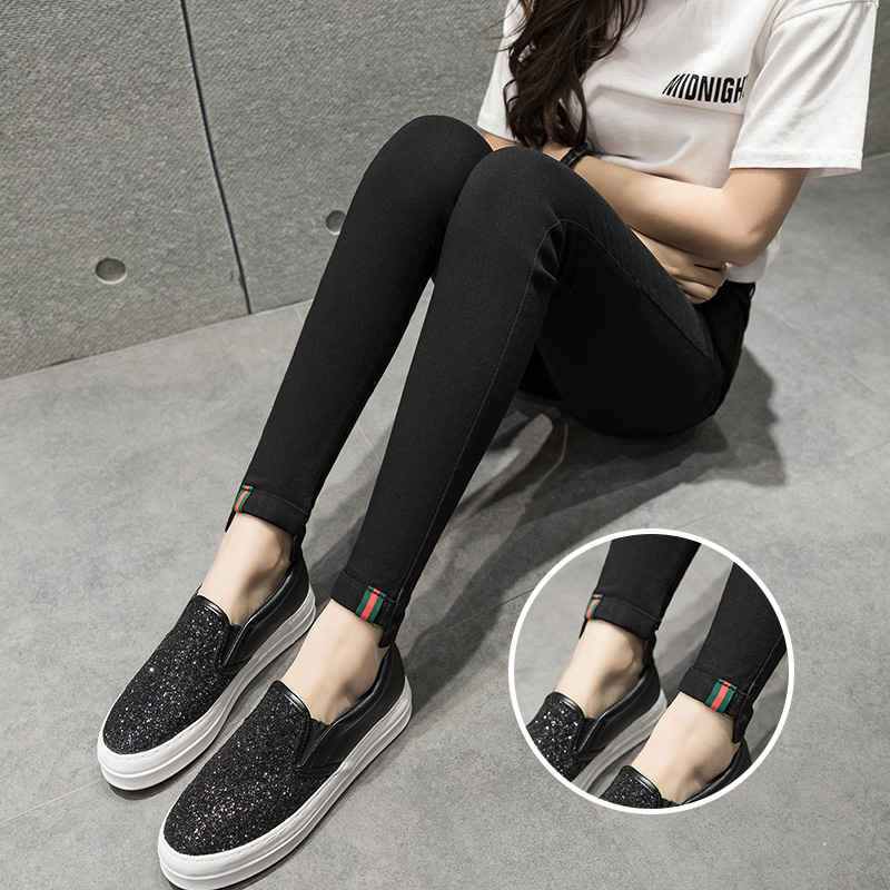 Harga Celana Legging Hitam Beludru Wanita Pita Pita Oem Original