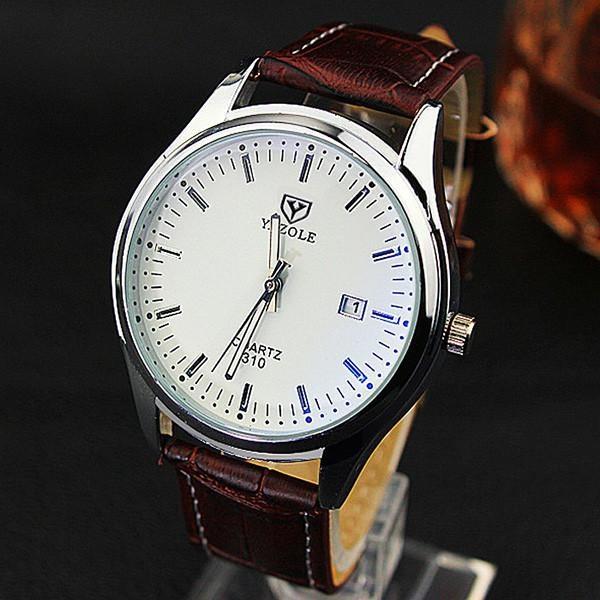 Perbandingan Harga Yazole 310 Pria Luminous Kalender Bisnis Watches Putih Brown Yazole Di Tiongkok