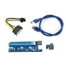 Miliki Segera Ybc 5 Pcs Pci E Check Usb3 Bawaan 1 X To16X Extender Riser Kartu Adapter Sata Kabel Power
