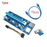 Review Ybc 70Cm Usb3 Pci E Express 1X To 16X Extender Riser Card Adapter Sata 6 Pin Power Cable Intl