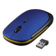 Spesifikasi Ybc Mini Tipis 2 4G Usb Mouse Optik Nirkabel For Komputer Pc Biru Terbaik
