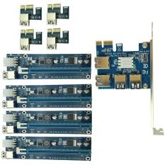 YBC PCIe 1 untuk 4PCI Express 16X Slot Riser Kartu PCI-E 1X Eksternal 4 Slot Pci-e ADAPTER-Intl