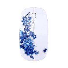 Jual Ybc Portable 2 4 Ghz Mouse Nirkabel Usb Elegan Flower Painted Optical Gamer Mice Intl Oem Branded