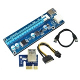 Spesifikasi Ybc Usb3 Bawaan Pci E Check 1 X For 16 X Extender Riser Kartu Adaptor Sata 6 Pin Power Kabel Oem