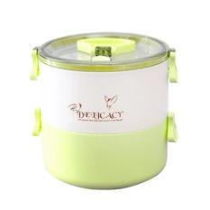 Yedatun Double-Deck Leakproof Sealed Portable Lunch Box untuk Anak Dewasa, BPA Free, Freezer Safe, Bento Kotak Penyimpanan Makanan Container-Biru-Intl