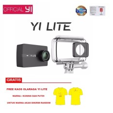 Toko Yi Lite 4K Action Camera Original International Version Hitam Free Kaos Olahraga Terlengkap Dki Jakarta