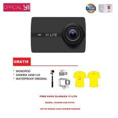 Ulasan Tentang Yi Lite 4K Action Camera Waterproof Sandisk 16Gb Monopod Kaos Olahraga