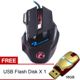 Harga Yika 3200Dpi Kabel Mouse Optik Usb Game Hitam Membeli 1 Mendapatkan Freebie Online Tiongkok