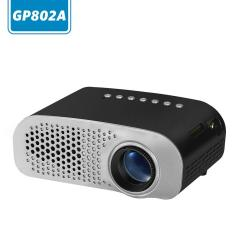 Yinggelai GP802A Mini Portable Multimedia LED Proyektor Bioskop Rumah Dukungan PC VGA USB AV HDMI SD Card untuk Video Game TV Moive TXT Musik, Hitam