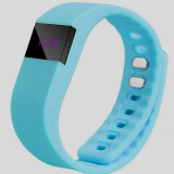 Review Terbaik Yingwei Tw64 Bluetooth 4 Smartband Gelang Gelang Kebugaran Tracker Watch Blue
