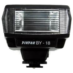 Yinyan Mini Flash Kamera 5600K Untuk DSLR Canon Nikon - BY-18 - Black