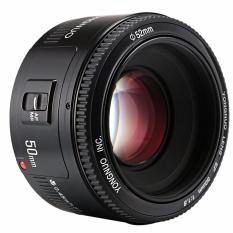 Yn50Mm F1 8 Mounting Lensa Auto Fokus Bukaan Besar Untuk Canon Ef Eos Murah