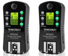 Yongnuo Flash Trigger RF-605-C Wireless Transceiver Kit for Canon