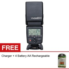 Yongnuo Flash YN568EX-II TTL & HSS 1/8000s for Canon + Gratis Charger + 4 Battery AA Rechargeable