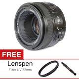 Harga Yongnuo Lens Af S 50Mm F 1 8 For Nikon D Slr Autofocus Free Aksessories Lensa New