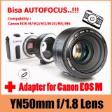 Model Yongnuo Lens Ef 50Mm F1 8 For Canon Eos M M2 M3 M10 M5 M6 Free Uv Filter Terbaru