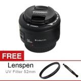 Beli Yongnuo Lens Ef 50Mm F 1 8 For Canon Gratis Filter Uv 52Mm Lenspen Kredit