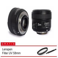 Yongnuo Lensa Fixed AF-S 35mm F/2.0 DX For Nikon (Free Lenspen + Filter)