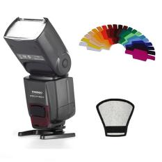 Yongnuo YN-560 IV Flash Speedlite untuk Pentax Olympus DSLR Kamera + Label Gel Filter Warna