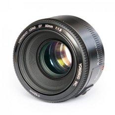YongNuo YN50mm F1.8 Perdana standar lensa fokus otomatis lensa bukaan besar untuk Canon EF Gunung Rebel DSLR kamera