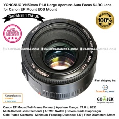 Harga Yongnuo Yn50Mm F1 8 Large Aperture Auto Focus Slrc Lens For Canon Ef Mount Eos Mount Yongnuo 50Mm Lens For Canon Dslr Garansi 1Th Seken