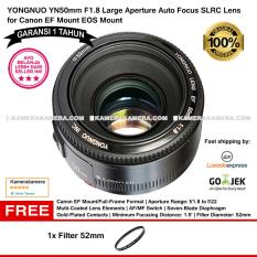 Yongnuo YN50mm F1.8 Large Aperture Auto Focus SLRC Lens for Canon EF Mount EOS Mount  - YongNuo 50mm lens for Canon DSLR (Garansi 1th) Free Filter 52mm