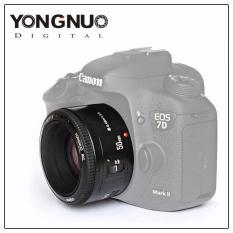 Yongnuo YN50mm F1.8 Lensa Aperture Besar Auto Lensa Fokus untuk Canon EF Gunung Eos Kamera