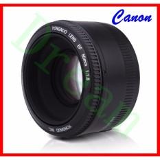 YONGNUO YN50mm F1.8 Lensa Lensa Bingkai Standar Lensa Bukaan Besar Standar Canon EOS 60D 70D 5D2 5D3 7D2 750D Kamera DSLR 650D