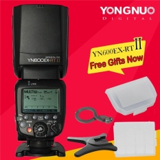 Yongnuo YN600EX-RT II Wireless Flash Speedlite TTL Master untuk Canon Kamera + Hadiah