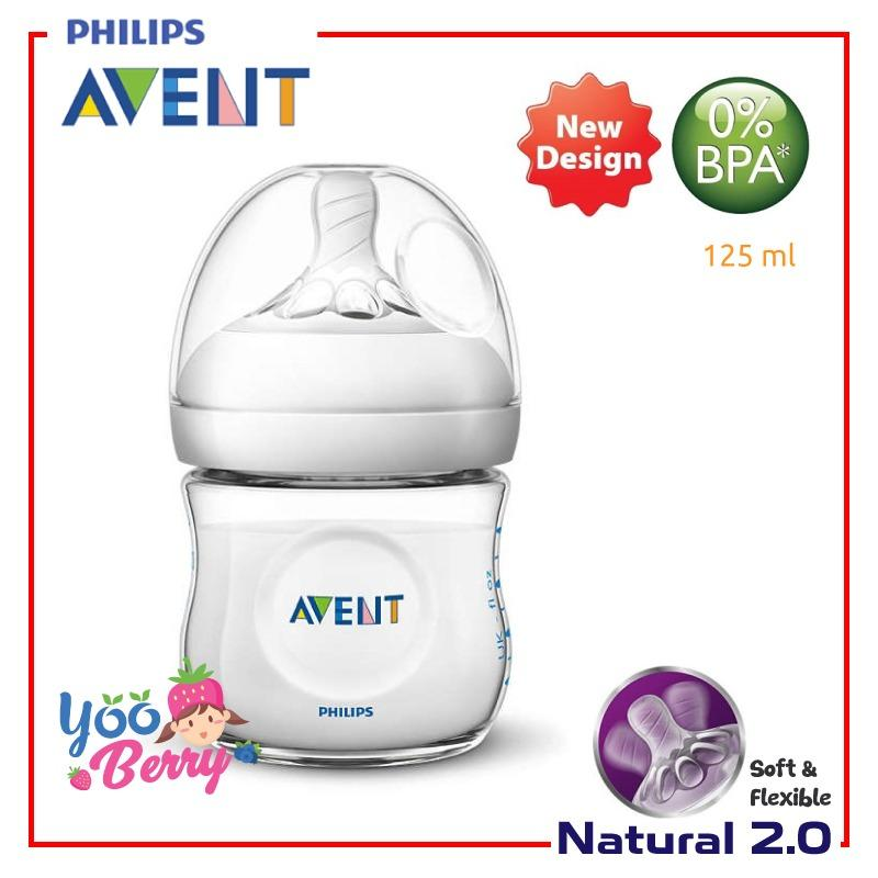 Harga Yooberry Avent Natural Botol Susu 125Ml Teat 2 Single Pack Seken