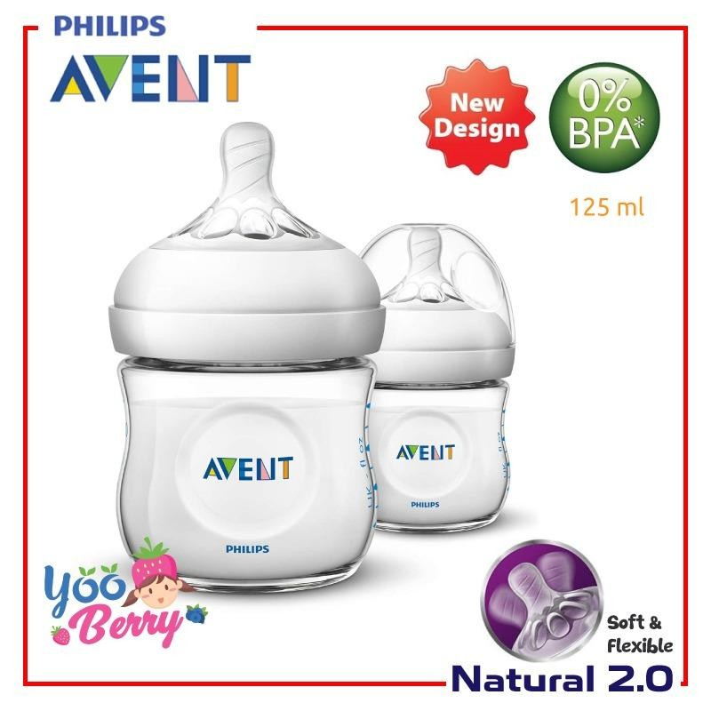 Jual Yooberry Avent Natural Botol Susu 125Ml Teat 2 Twin Pack Isi 2 Avent Online