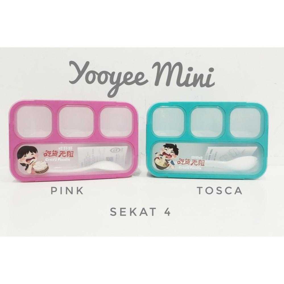 Jual Produk Yooyee Kotak Makan Lunch Box Mini Grid Bento Anti Bocor Sekat 4