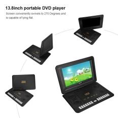 Yosoo 13.8 Inci Portabel DVD Pemutar Penopang SVCD Vcd CD CD-R/RW EU Steker-Internasional
