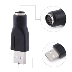 Justgogo YOSOO 2 Pcs USB 2.0 Male Ke PS/2 Female Converter untuk PC Komputer