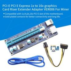 Jual Beli Yosoo Pci E Express 1X Untuk 16X Kartu Grafis Riser Adaptor Intl Tiongkok