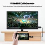 Harga Yosoo Usb Untuk Hdmi 1080 P Adaptor Kabel Av Untuk Samsung Huawei Mi Sony Hitam Intl Murah