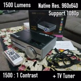 Jual Yourday Proyektor Mini Led Projector Portable 1500 Lumens Hd Ready Tv Tuner Branded Murah