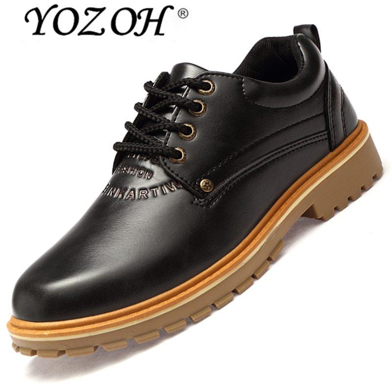 Beli Yozoh Fashion Musim Gugur Ankle Martin Boots Bernapas Berkualitas Tinggi Bekerja Kulit Sepatu Santai Hitam Intl Kredit Tiongkok