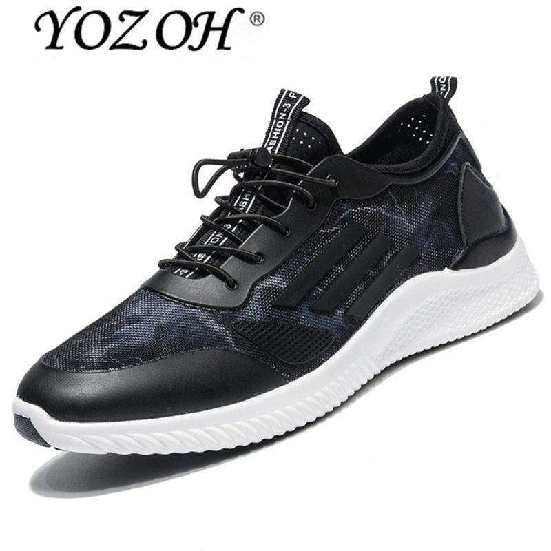 Harga Yozoh Pria Outdoor Sport Jogging Running Sepatu Sneakers Kasual Mesh Bernapas Pelatih Rendah Potong Kembar Blue Intl Original