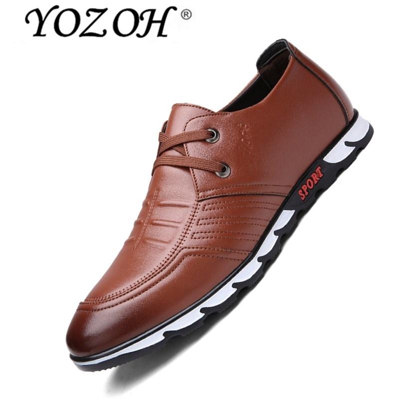 Harga Yozoh Pria Sepatu Kasual Oxford Klasik Kulit Asli Pria Kantor Elegan Gaun Bisnis Formal Sepatu Yozoh Original