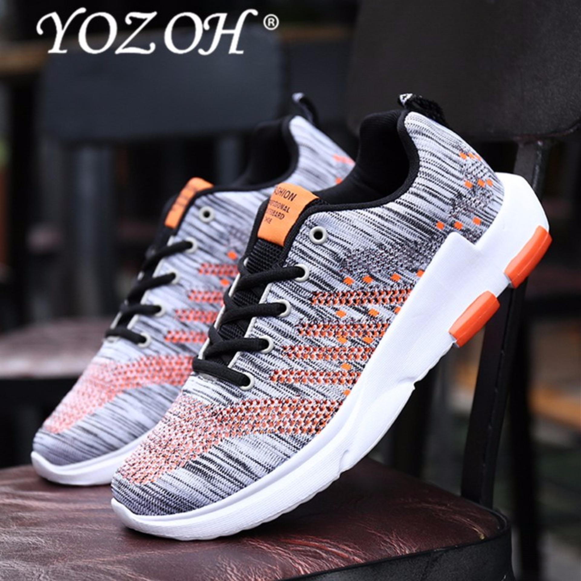 Review Pada Yozoh Sepatu Lari Pria Sneakers Pria Olahraga Sepatu Pria Bernapas Free Run Zapatillas Deporte Mujer Sneakers Grey Intl