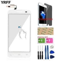 YRFF 4.5 Cm Telepon untuk Alcatel One Touch POP 2 5042D OT5042 5042 Front Touch Screen Digitizer Touch Panel Kaca Sensor Lensa Protector Film Perekat-Intl