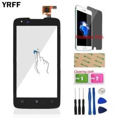 YRFF 4.5 ''Untuk Lenovo S750 Ponsel Kaca Depan Touch Screen Touch Digitizer Panel Len Sensor FLEX Cable Tools Protector Film Perekat-Intl