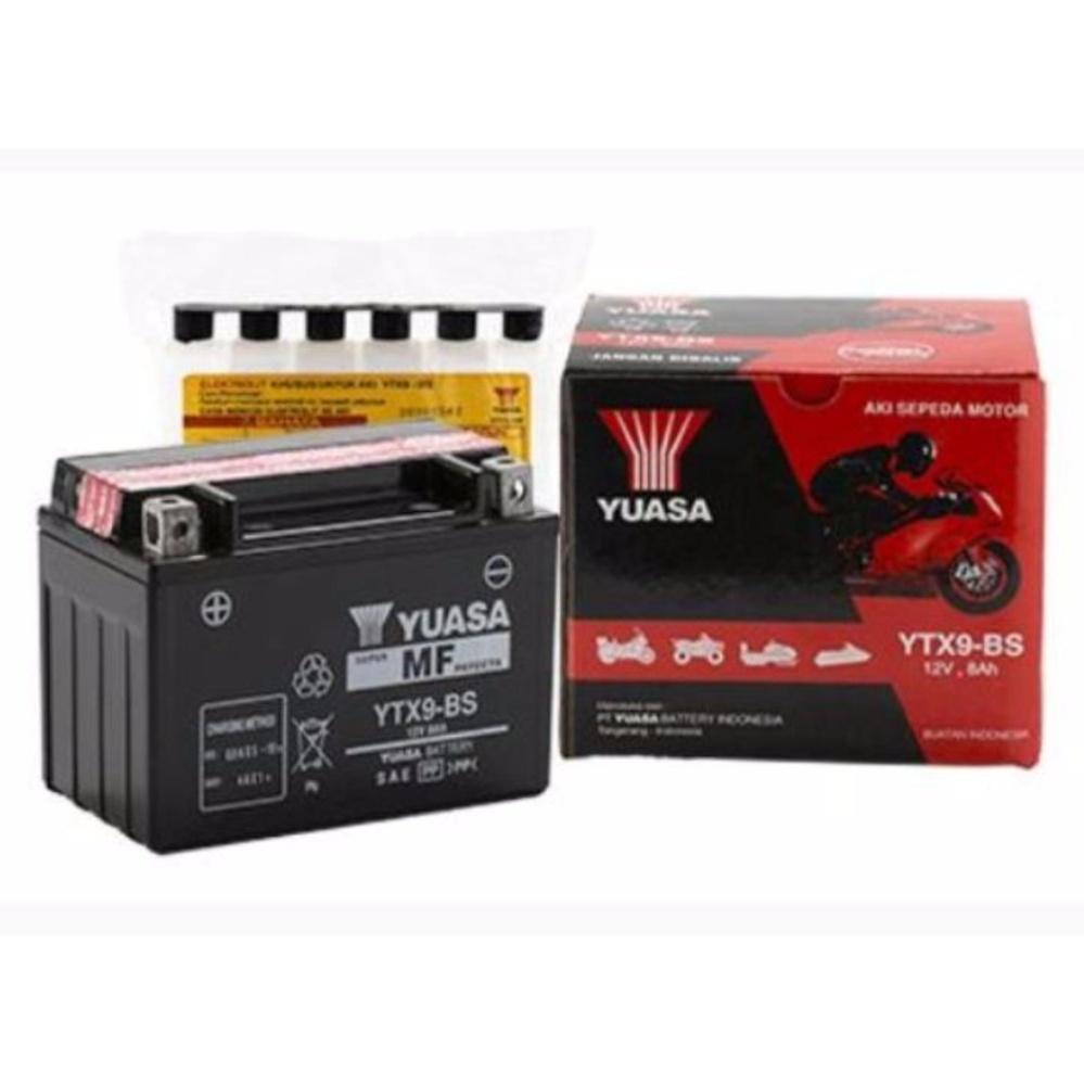 Katalog Yuasa Battery Ytx9 Bs Aki Kering Hitam Terbaru