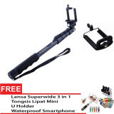 Toko Yunteng Selfie Stick Monopod Tongsis With Built In Aux Cable And Phone Clip Gratis Premium Lensa Superwide Tongsis Lipat Mini U Holder Waterproof Smartphone Yunteng