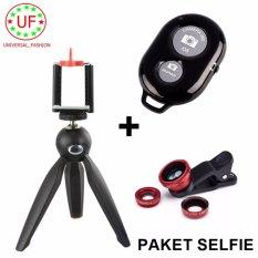 Yunteng Tripod Mini YT-228 Original Black for Digital Camera ,Cell Phone, Gopro + Shutter Remote Bluetooth + Clip Lens
