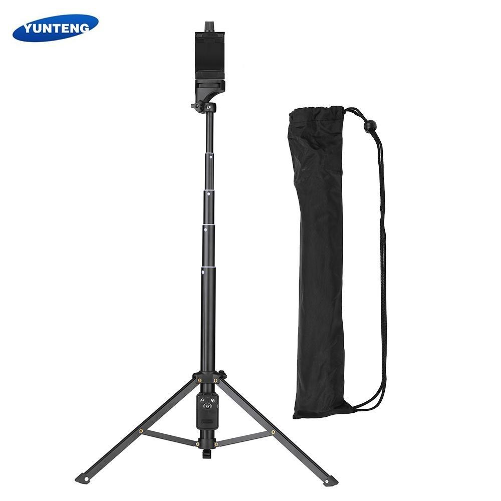 YUNTENG VCT-1688 2in1 Portable Mini Ponsel Selfie Stick Tabletop Tripod dengan Remote Controller untuk IPhone Samsung Huawei 52mm- 102mm Lebar Smartphone untuk DSLR ILDC Kamera Action Camera Max. Beban 5 Kg-Intl