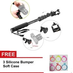 Diskon Yunteng Yt 1188 Selfie Stick Monopod Tongsis W Built In Aux Cable Phone Clip Black Free 3 Bumper Branded