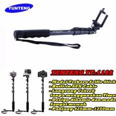 Beli Yunteng Yt 1188 Tongsis Kabel Monopod Built In Aux Cable And Key Shutter Hitam Cicilan